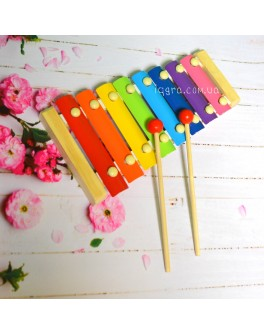Ксилофон дитячий 8 нот музичний інструмент металофон