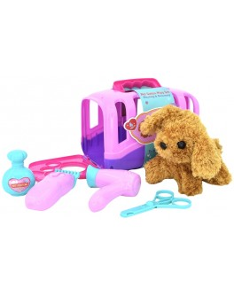 Ігровий набір Собачка з набором для догляду, в переносці (T 811-1)