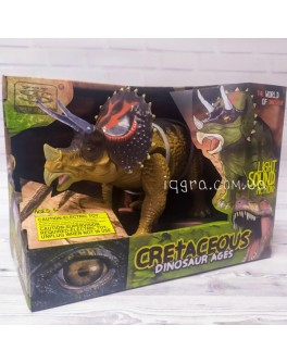 Музична іграшка Wen Sheng Динозавр Трицератопс - ходить і ричить 24 см (WS 5315)