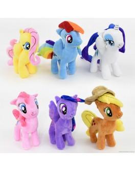 Мягкая игрушка Пони 6 видов, 28 см