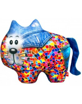 Антистрессовая игрушка Soft Toys Кот джинсовый, 27х20 см - ves DT-ST-01-61