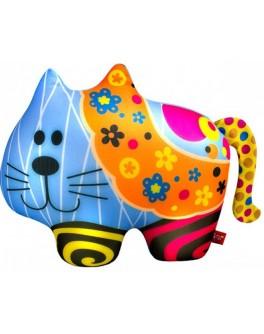 Антистрессовая игрушка Soft Toys Кот в цветочек, 27х20 см - ves DT-ST-01-62