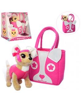 Собачка в розовой сумочке Кикки 22 см (M 3641) - mpl M 3641