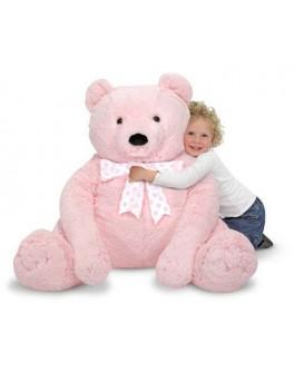 Большой розовый плюшевый мишка, 76 х 69 см - MD 3980