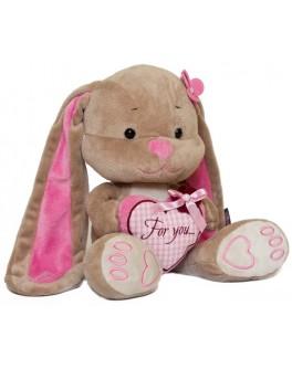 Мягкая игрушка Зайка Лин с сердечком Jack&Lin (JL-001-25) - SGR JL-001-25