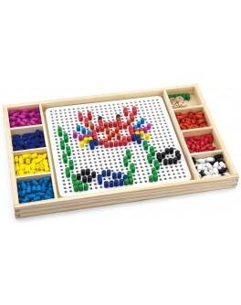 Деревянная игрушка Viga Toys Мозаика & Лудо (59990VG) - afk 59990
