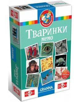 Настольная игра Granna Мемо Животные, укр. (82319) - BVL 82319