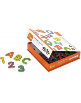Магниты Буквы английского алфавита и цифры Viga Toys - afk 59429