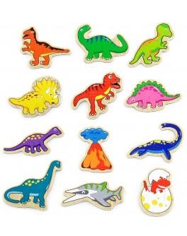 Деревянная игрушка Viga Toys магнитные фигурки Динозавры 20 шт (50289) - afk 50289
