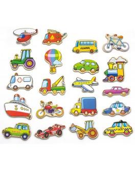 Деревянная игрушка Viga Toys магнитные фигурки Транспорт 20 шт. (58924) - afk 58924