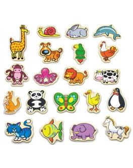 Дерев'яна іграшка Viga Toys магнітні фігурки У світі тварин 20 шт. (58923) - afk 58923