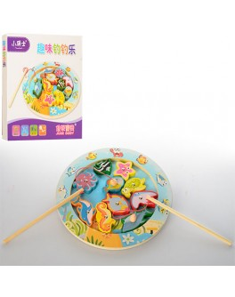 Деревянная игрушка Рыбалка - Морские обитатели (MD 1043) - mpl MD 1043