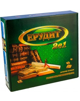 Эрудит с деревянными фишками Настольная игра