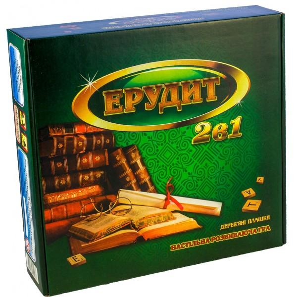 настольная игра в слова Эрудит с деревянными фишками Остапенко