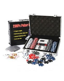 Набор для игры в покер 200 фишек без номинала M 2777