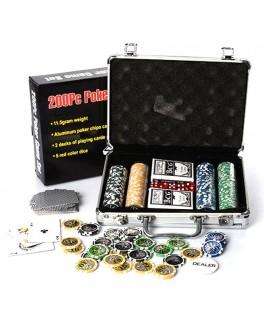 Набор для игры в покер 200 фишек с номиналом M 2779