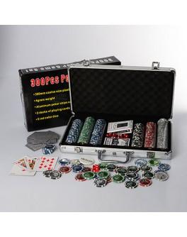 Набор для игры в покер 300 фишек с номиналом в чемодане M 2778
