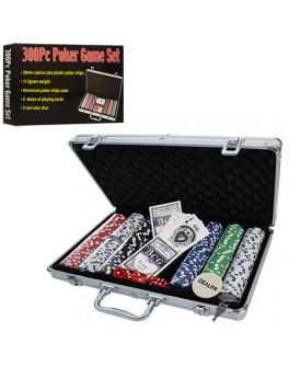 Набор для игры в покер 300 фишек в чемодане D4