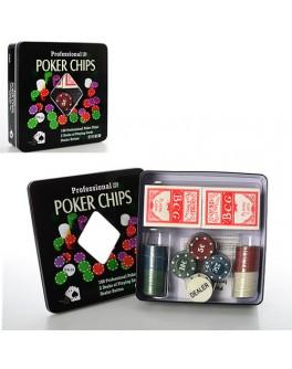 Набор для игры в покер 100 фишек с номиналом 3896 A