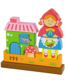 Деревянный магнитный 3D пазл Viga Toys Красная Шапочка (50075) - afk 50075