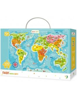 Пазл DoDo Карта Мира (300110) - dodo 300110