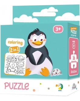 Пазл и раскраска Пингвинчик DoDo 2 в 1 (300122) - dodo 300122