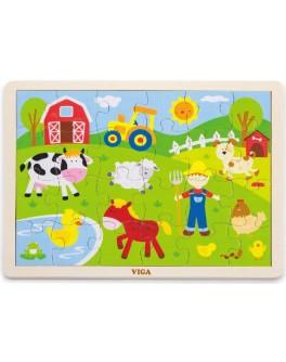 Деревянная игрушка пазл Viga Toys Ферма (50197) - afk 50197