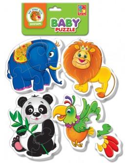 Мягкие Беби пазлы Vladi Toys Зоопарк, 4 шт. (VT1106-50) - VT1106-50