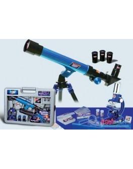 Набор микроскоп 100х,200х,450х + телескоп 20х,30х,40х - ZD 2072
