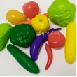 Дидактичний матеріал для Нуш. Муляжі Овочі і Фрукти, демонстраційний набір в пластиковому контейнері 19 предметів. - kw 04-474-5-6-7