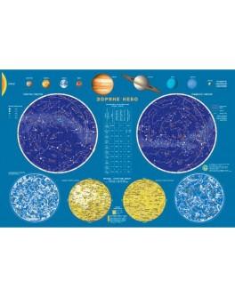 Карта Зоряне небо М1:51 000 000, А2 65х45 см укр