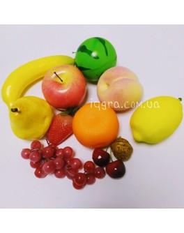 Дидактичний матеріал для Нуш. Муляжі Фрукти, демонстраційний набір - нуш фрукты