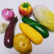Дидактичний матеріал для Нуш. Муляжі Овочі, демонстраційний набір - нуш овощи