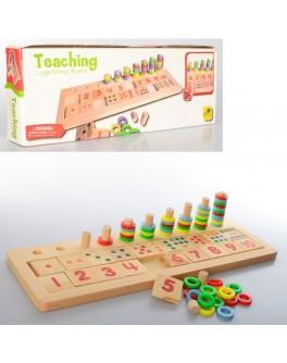 Деревянная игрушка Набор первоклассника Учимся считать (MD 1138)