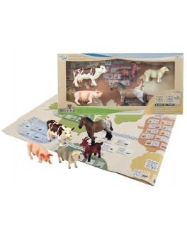 Обучающий игровой набор с QR-картой Wenno Животные Ферма S2 (WEU1706)