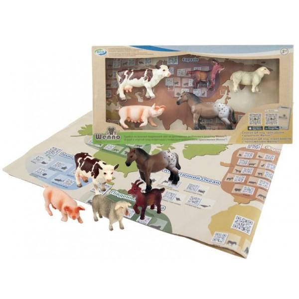 набор с QR-картой Животные Ферма S2, Wenno WEU1706