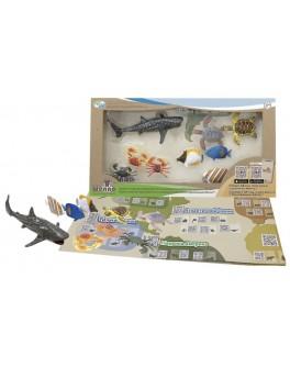 Обучающий игровой набор с QR-картой Wenno Обитатели Индийского океана (WIN1701)