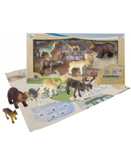 Обучающий игровой набор с QR-картой Wenno Животные Европы (WEU1704)