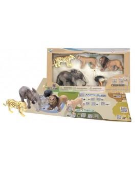 Обучающий игровой набор с QR-картой Wenno Животные Африки S1 (WAF1701)