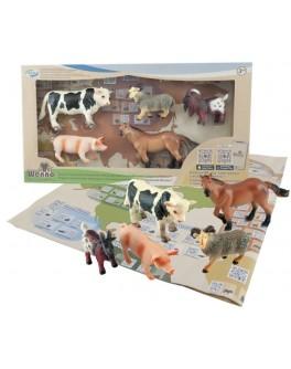 Обучающий игровой набор с QR-картой Wenno Животные Ферма S1 (WEU1705)