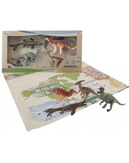 Обучающий игровой набор с QR-картой Wenno Динозавры Мелового Периода (WRD1701)