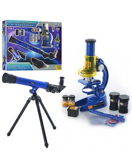 Набір оптичних приладів мікроскоп, телескоп, аксесуари CQ 031 - mpl CQ-031
