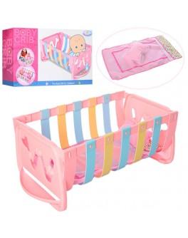 Кроватка для куклы 40 см Baby Crib (WZJ018B)