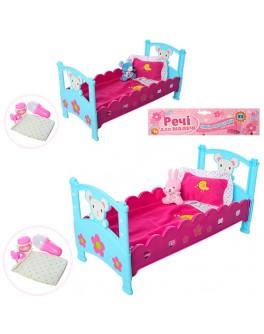 Кроватка для пупса 40 см M 3836-07