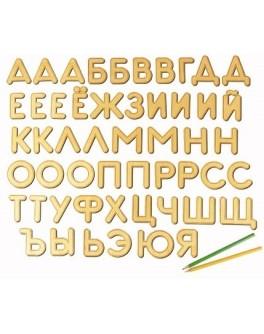 Деревянные буквы на магнитах русский алфавит Woody (В00211)