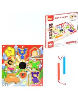 Деревянная игра Лабиринт с шариками Фигуры
