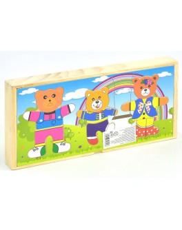 Дерев'яна рамка-вкладиш Три ведмеді (С 29454) - igs 68235