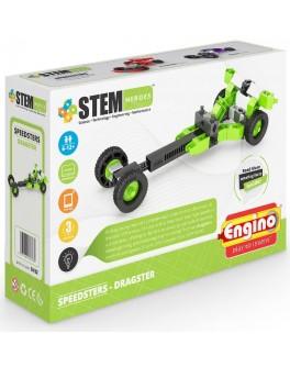 Конструктор Engino STEM HEROES: Спортивные автомобили: драгстер - KDS SH32