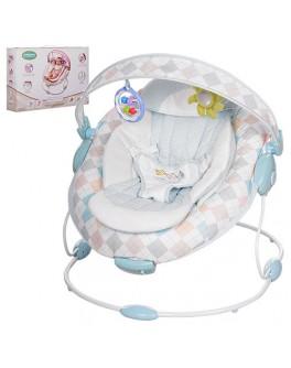 Шезлонг-кресло 2 в 1 со съемной аркой и подвесками-игрушками 60685A - mpl 60685A