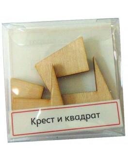 Головоломка геометрическая Крест и квадрат - kgol крест и квадрат